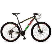 Bicicleta Aro 29 Gt Sprint Volcon 21v Shimano, Freio A Disco - Preto/vermelho E Verde - 21´´ - 21´´