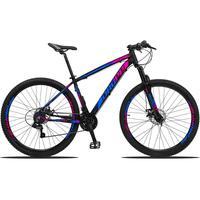 Bicicleta Aro 29 Dropp Z3 21v Shimano, Suspensão Freio Disco - Preto/azul E Rosa - 15''