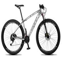 Bicicleta Aro 29 Dropp Rs1 Pro 27v Alivio, Fr. Hidra E Trava - Cinza/branco - 19´´ - 19´´