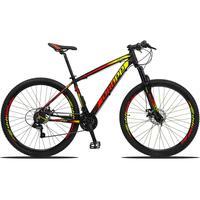 Bicicleta Aro 29 Dropp Z3 21v Shimano, Suspensão Freio Disco - Preto/amarelo E Vermelho - 19´´ - 19´´