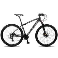 Bicicleta Aro 29 Dropp Z4x 24v Susp C/trava Freio Hidraulico - Preto/cinza - 19´´ - 19´´
