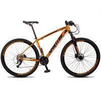 Bicicleta Aro 29 Spaceline Vega 27v Suspensão E Freio Hidral - Laranja/preto - 21''