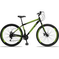 Bicicleta Aro 29 Dropp Sport 21v Garfo Rigido, Freio A Disco - Preto/amarelo - 17''
