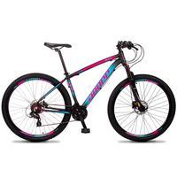 Bicicleta Aro 29 Dropp Z4x 24v Susp C/trava Freio Hidraulico - Preto/azul E Rosa - 17''