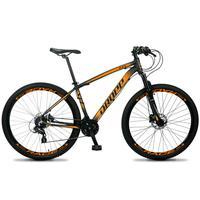 Bicicleta Aro 29 Dropp Z4x 24v Susp C/trava Freio Hidraulico - Preto/laranja - 15''