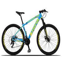 Bicicleta Aro 29 Dropp Z3x 21v Suspensão E Freio Disco - Azul/amarelo - 19´´ - 19´´