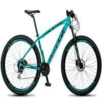 Bicicleta Aro 29 Dropp Rs1 Pro 24v Acera Freio Hidra E Trava - Verde/preto - 21''