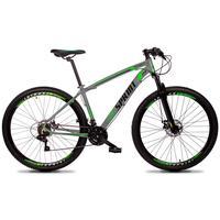 Bicicleta Aro 29 Gt Sprint Volcon 27v Susp E Freio Hidraulic - Cinza/verde E Preto - 17''