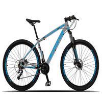 Bicicleta Aro 29 Dropp Z3x 27v Suspensão E Freio Hidraulico - Cinza/azul - 19''