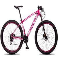 Bicicleta Aro 29 Dropp Rs1 Pro 24v Acera Freio Hidra E Trava - Rosa/branco - 21