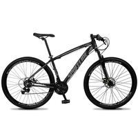 Bicicleta Aro 29 Spaceline Vega 21v Suspensão E Freio Disco - Preto/cinza - 21''