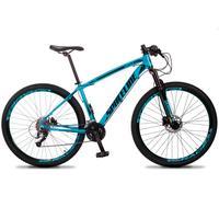 Bicicleta Aro 29 Spaceline Vega 27v Suspensão E Freio Hidral - Azul/preto - 19''