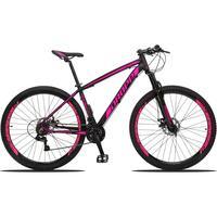 Bicicleta Aro 29 Dropp Z3 21v Shimano, Suspensão Freio Disco - Preto/rosa - 19