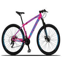 Bicicleta Aro 29 Dropp Z3x 21v Suspensão E Freio Disco - Rosa/azul - 19