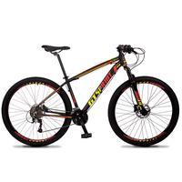 Bicicleta Aro 29 Gt Sprint Volcon 21v Suspensão, Freio Disco - Preto/vermelho E Amarelo - 19