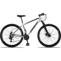 Bicicleta Aro 29 Dropp Sport 21v Suspensão E Freio A Disco - Branco/preto - 17''