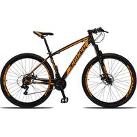 Bicicleta Aro 29 Dropp Z3 21v Shimano, Suspensão Freio Disco - Preto/laranja - 17
