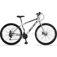 Bicicleta Aro 29 Spaceline Moon 21v Garfo Rigido Freio Disco - Branco/preto - 17´´ - 17´´