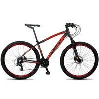Bicicleta Aro 29 Dropp Z4x 24v Susp C/trava Freio Hidraulico - Preto/vermelho - 21´´ - 21´´