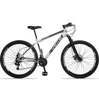Bicicleta Aro 29 Spaceline Moon 21v Suspensão E Freio Disco - Branco/preto - 19''