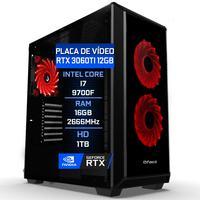 Pc Gamer Fácil Asus Intel Core I7 9700f, 16GB DDR4, HD 1TB, Geforce Rtx 3060 12gb - 750W
