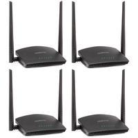 Kit 4 Roteador Wireless 2.4 Ghz 300 Mbps Rf 301 K Intelbras