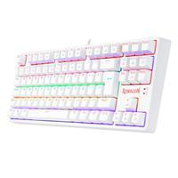 Teclado Mecanico Gamer Daksa Branco Redragon Rainbow Switch Vermelho Abnt2 K576w-red