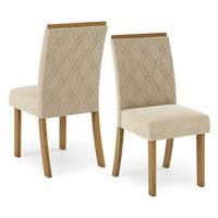 Conjunto 02 Cadeiras Para Sala de Jantar Henn Vita