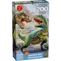 Quebra Cabeça 200 Peças Batalha Dos Dinossauros