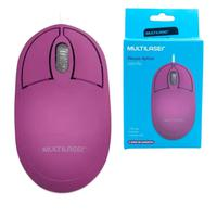 Mouse Multilaser Classic Box Óptico Rosa Pink - Mo304