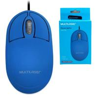 Mouse Multilaser Classic Box Óptico Azul Blue - Mo305