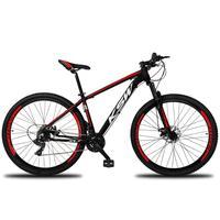 Bicicleta Aro 29 Ksw Xlt 24 Marchas Shimano E Freios A Disco - Preto/vermelho E Branco - 15''