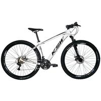 "Bicicleta Aro 29 Ksw 24 Marchas, Freios A Disco E Trava, Cor: branco/preto, Tamanho Do Quadro: 19"""