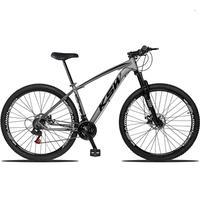"""Bicicleta Aro 29 Ksw 24 Marchas Freios A Disco E Trava Cor:grafite/pretotamanho Do Quadro:17"""" - 17"""""""