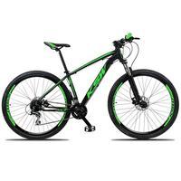"""Bicicleta Aro 29 Ksw 24 Vel Shimano Freios Disco E Trava/k7 Cor:Preto/verde, Tamanho Do Quadro:15"""" - 15"""""""