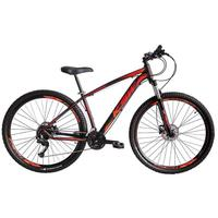 """Bicicleta Aro 29 Ksw 21 Marchas Shimano Freios Disco E Trava Cor: preto/laranja E Vermelho tamanho Do Quadro: 15"""""""