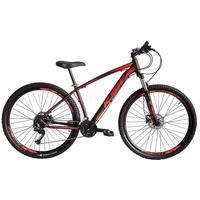 """Bicicleta Aro 29 Ksw Xlt 24 Marchas Shimano E Freios A Disco - Preto/laranja E Vermelho - 21"""""""