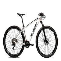 "Bicicleta Aro 29 Ksw 21 Marchas Freio Hidráulico, Trava E K7 Cor: branco/preto tamanho Do Quadro:19"""