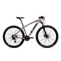 Bicicleta Aro 29 Ksw 24 Vel Shimano Freios Disco E Trava/k7 Cor:grafite/pretotamanho Do Quadro:21pol - 21pol