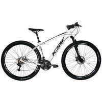 Bicicleta Aro 29 Ksw 24 Marchas Freios A Disco E Suspensão Cor:branco/preto tamanho Do Quadro: 21pol - 21pol