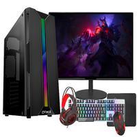 """PC Gamer Completo Fácil Intel I3 10100F Décima Geração, 16GB, GT 420 4GB, SSD 240GB, Monitor 21"""", Fonte 500W"""