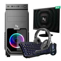 Kit - Pc Gamer Start Nli82873 Amd 320ge 8gb vega 3 Integrado 1tb + Monitor 19.5