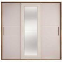 Guarda Roupa Personal Organizer Casal 2,50m Mdf 8 Gavetas 1 Espelho Cool Home
