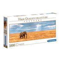 Puzzle 1000 Peças Panorama Elefante - Clementoni - Importado