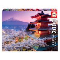 Puzzle 2000 Peças Monte Fuji, Japão - Educa - Importado
