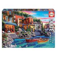 Puzzle 3000 Peças Lago De Como, Itália - Educa