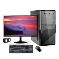 "Computador Desktop Corporate I5 10ª Geração 8gb Ddr4 Ssd 240gb Kit Multimidia Monitor Led 19,5"""