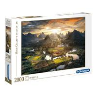 Puzzle 2000 Peças Vista Chinesa - Clementoni - Importado