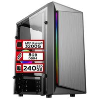 Pc Gamer Playnow Amd Ryzen 3 3200g 8gb Ddr4 2666mhz placa De Vídeo Radeon Vega 8 Ssd 240gb 500w Skill