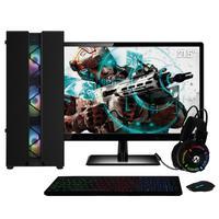 "Pc Gamer Completo Amd Athlon 3000g placa De Vídeo Radeon Vega 3 Monitor 21.5"" Full Hd 8gb Ddr4 Ssd 120gb Hd 1tb 500w Skill Cool"